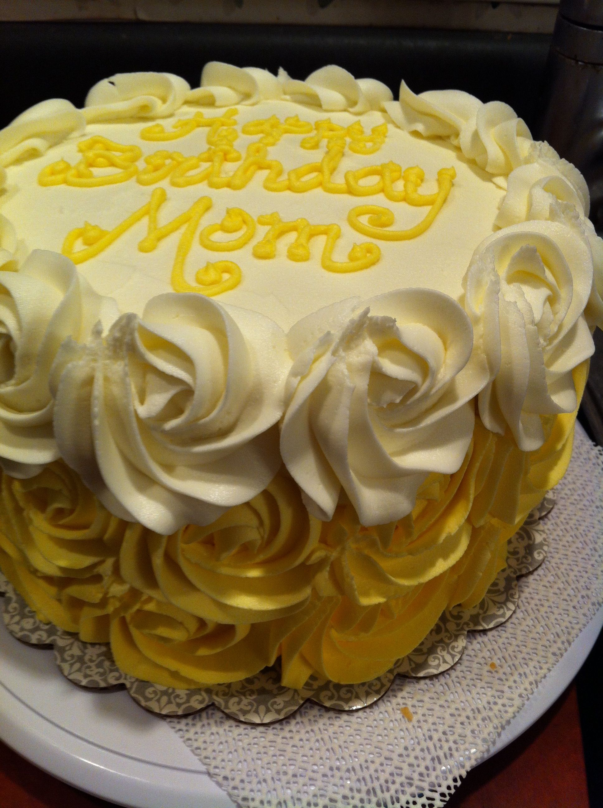Ombre Yellow Rose Cake Cakes