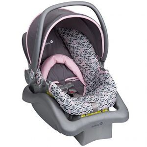 The Safety 1st Light 'n Comfy Elite infant car seat helps you make every journey with your baby safer and more comfortable. This comfy baby car seat can be used from 4-22 pounds with a secure 5-point harness that adjusts from the front. With 4 harness heights, you can adjust the harness to the best fit for a tiny traveler just coming home for the first time, and then easily keep your baby snug in the seat as they grow.