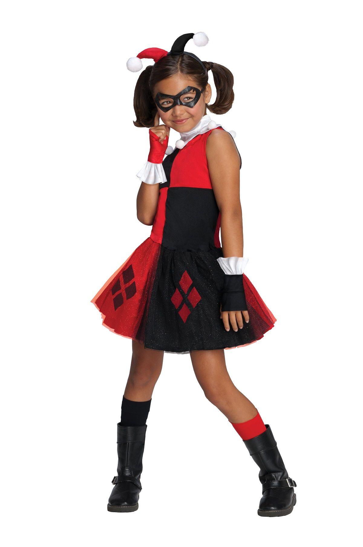 Kids Harley Quinn Super Villian Girls Costume Heroesvsvillians Halloween