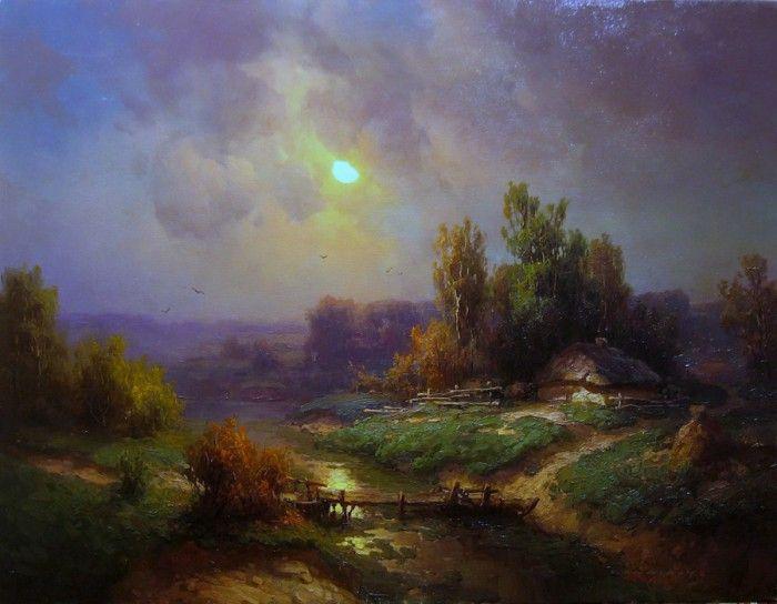 темное небо в картине Юрия Прядко