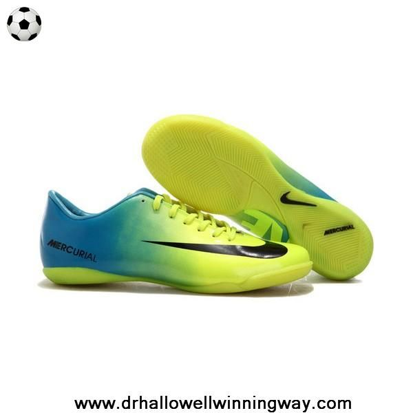 official photos 46190 2f37d Nike Mercurial Vapor IX IC Blue Green White Football Boots