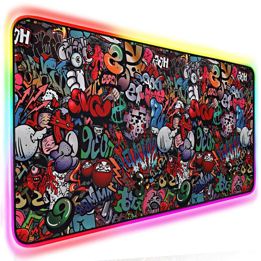 Gaming mouse pad rgb computer mousepad gamer large mouse
