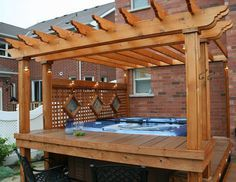 Simple Hot Tub Deck Plans With Pergola
