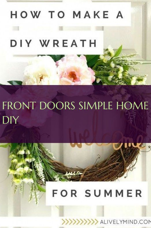 Front Doors simple home diy