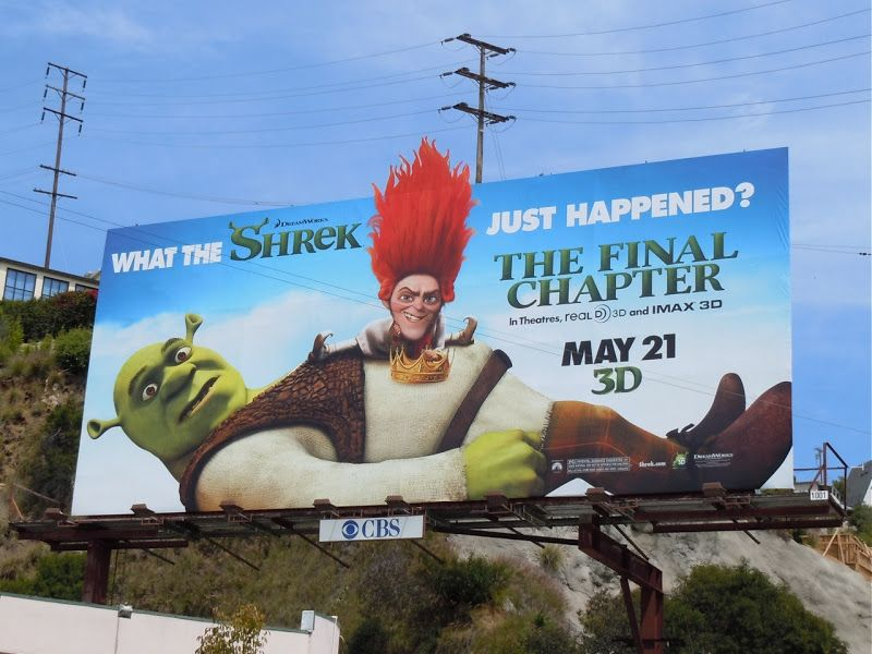 Shrek: The Final Chapter movie billboard