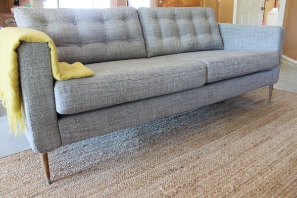 Tufted Heather Grey Karlstad Sofa