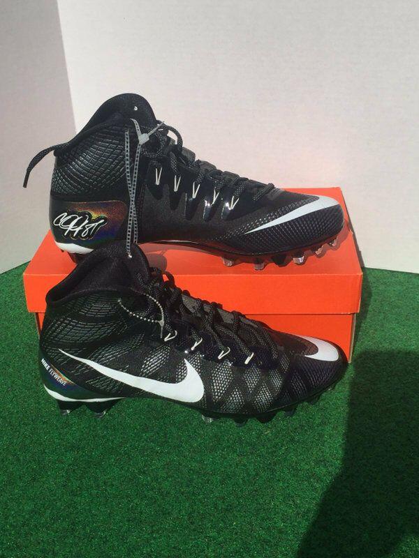 c0a8f8767 Advertisement(eBay) NIKE CJ3 TD Calvin Johnson Football Cleats Sz 10 Black  Flyweave NEW