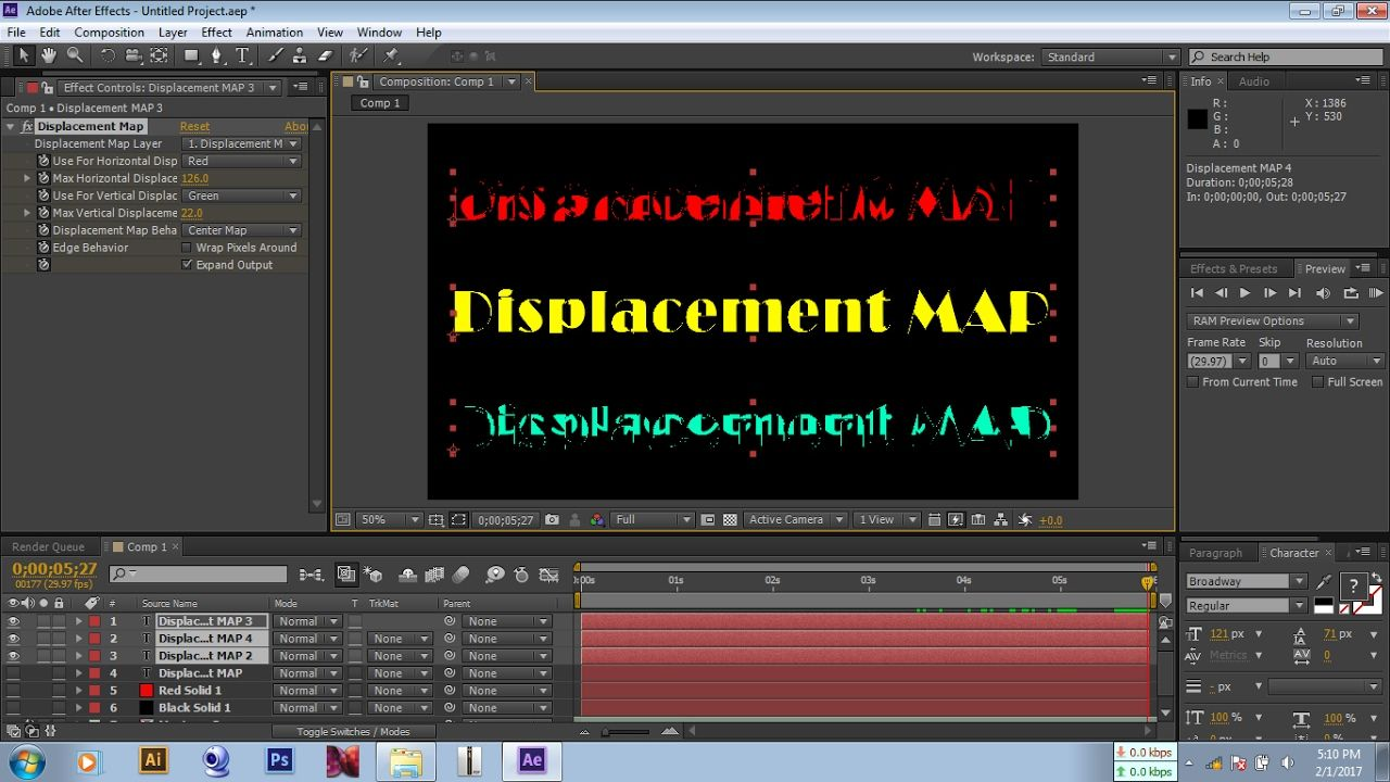 In this video I will show you how to make displacement map effects Displacement Map After Effects on