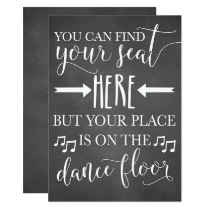 find your seat here wedding poster sign card 5x7 wedding