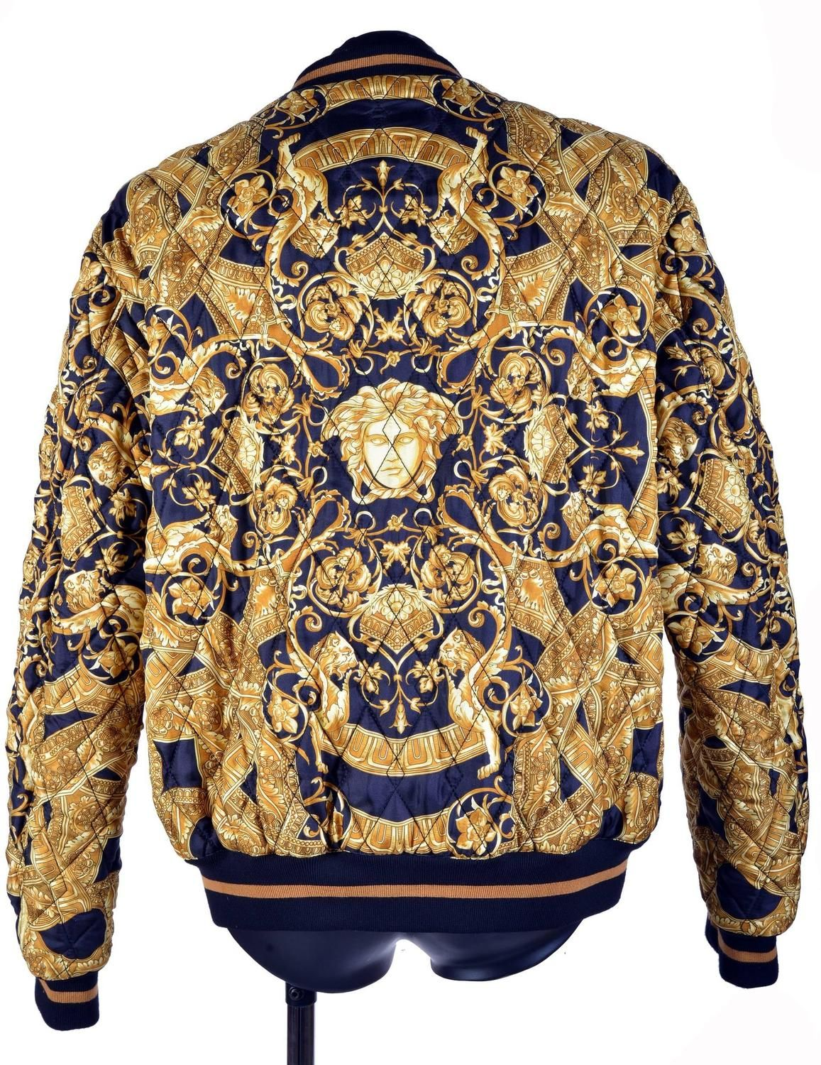 76f0cf31 35th ANNIVERSARY VERSACE QUILTED SILK BOMBER JACKET | Style in 2019 ...