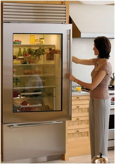 Subzero Fridge With Glass Door   First Company Out There That Can Make A  More Affordable