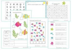 Nog even gauw een werkbladenpakket gemaakt voor het thema zomer voor kleuters. Leuk voor volgend jaar of om met je kinderen te doen in de vakantie.