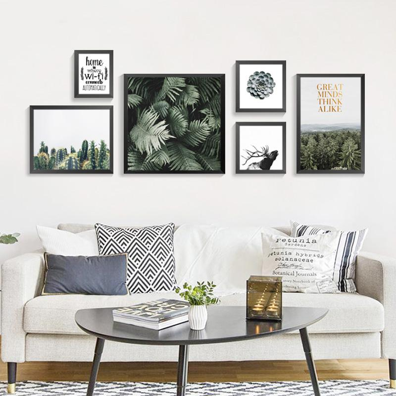 Green World Nordic Decoration Wall Pictures For Living Room Posters And Prints Cuadros Wall Art Canvas Painting No Poster Frame Living Room Pictures Wall Art Living Room Room Posters #posters #for #living #room #walls