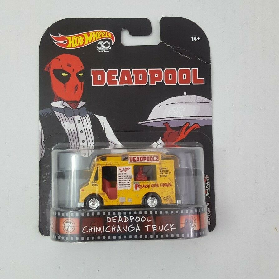 waiter Hot Wheels Retro Entertainment Deadpool Chimichanga Truck