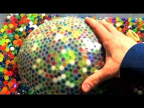 Make The World S Biggest Waterball Orbeez Stress Ball Stress Balls Satisfying Video Christmas Bulbs