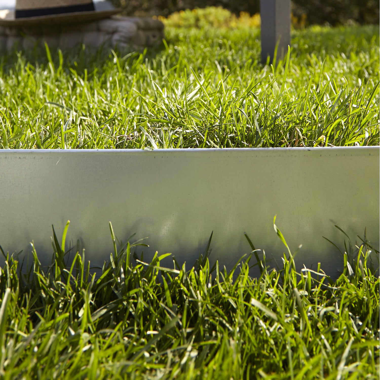 bordure planter metal acier galvanis gris h 13 x l 118 cm leroy merlin projet bureaux. Black Bedroom Furniture Sets. Home Design Ideas