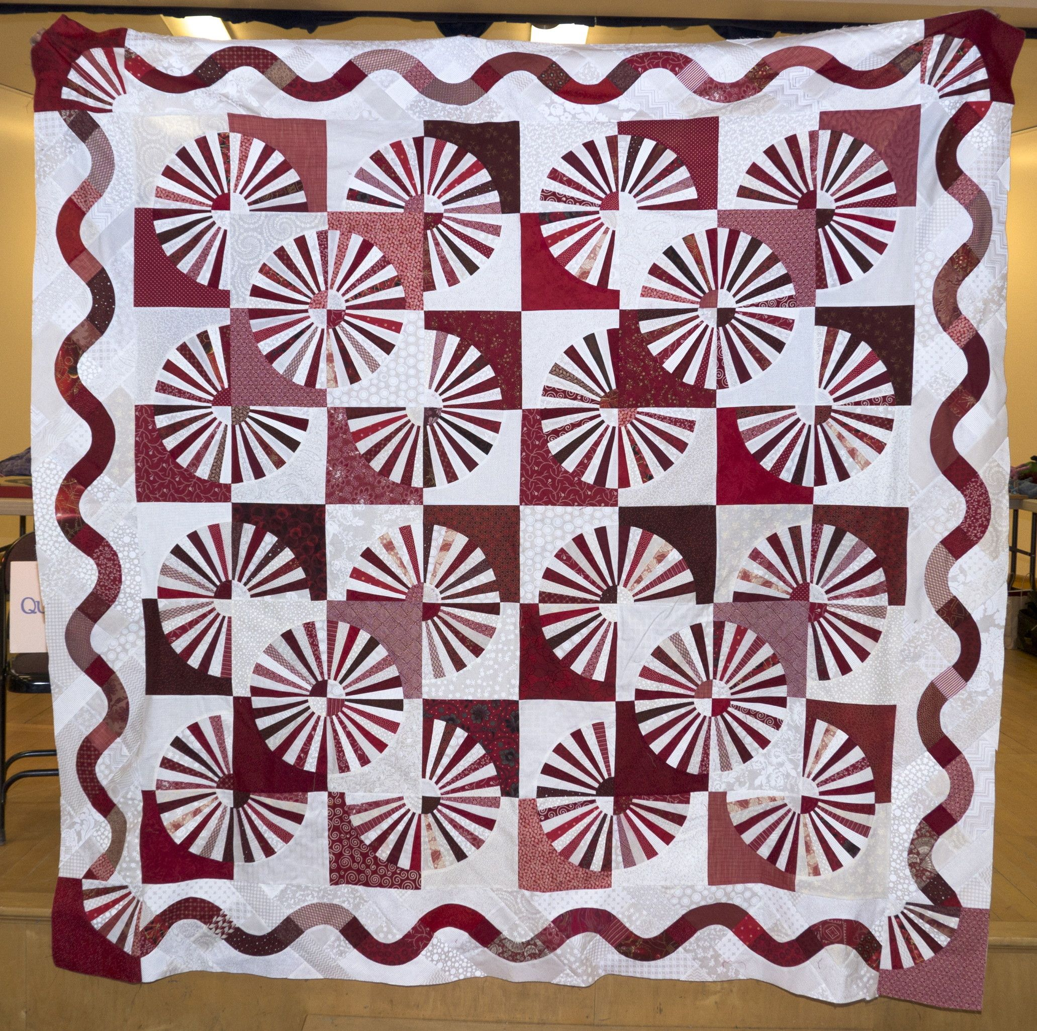 grandmother's fan quilt images | Grandmother's Choice has been quilted on the long-arm. All it needs ...