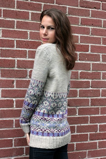 Velvet Morning free knitted cardigan color work pattern by ...