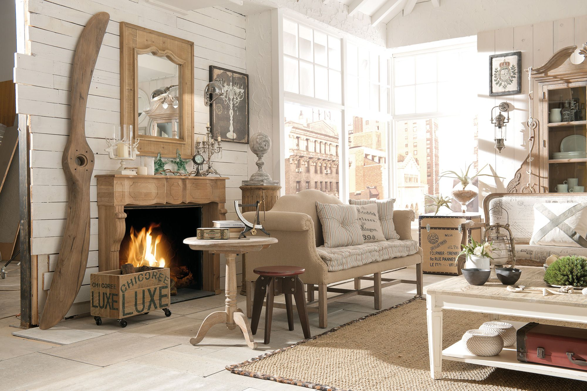 Arredamento country vintage industrial loft urban for Country style arredamento