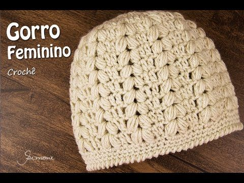 Gorro Feminino de Crochê  d0f46c0eda1