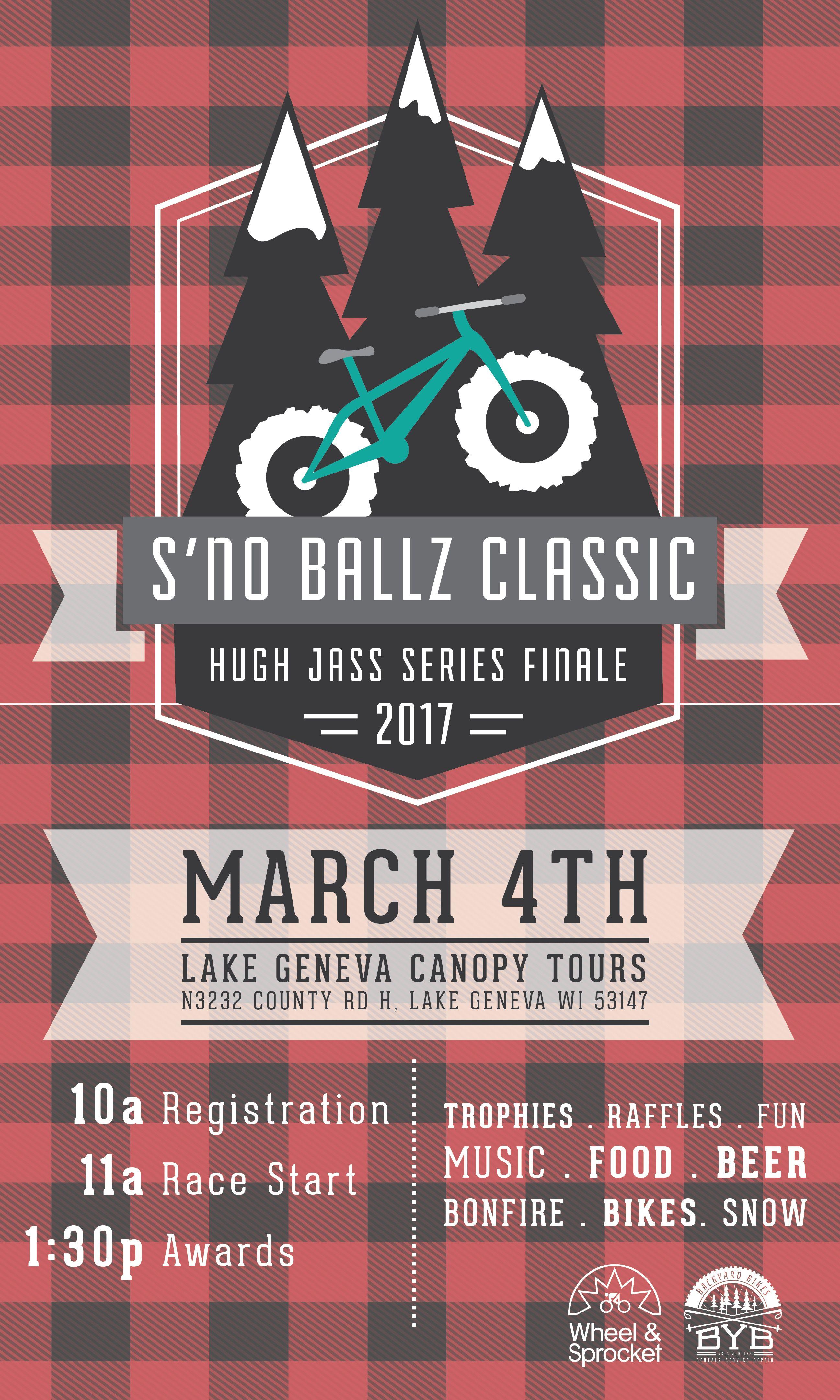 Fat Bike Race Hugh Jass Finale At Lake Geneva Canopy Tours WI