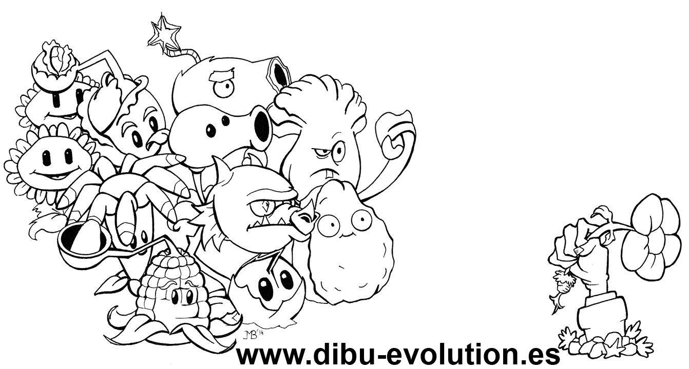 Plantas Vs Zombies Para Colorear Dibu Evolution Plants Vs