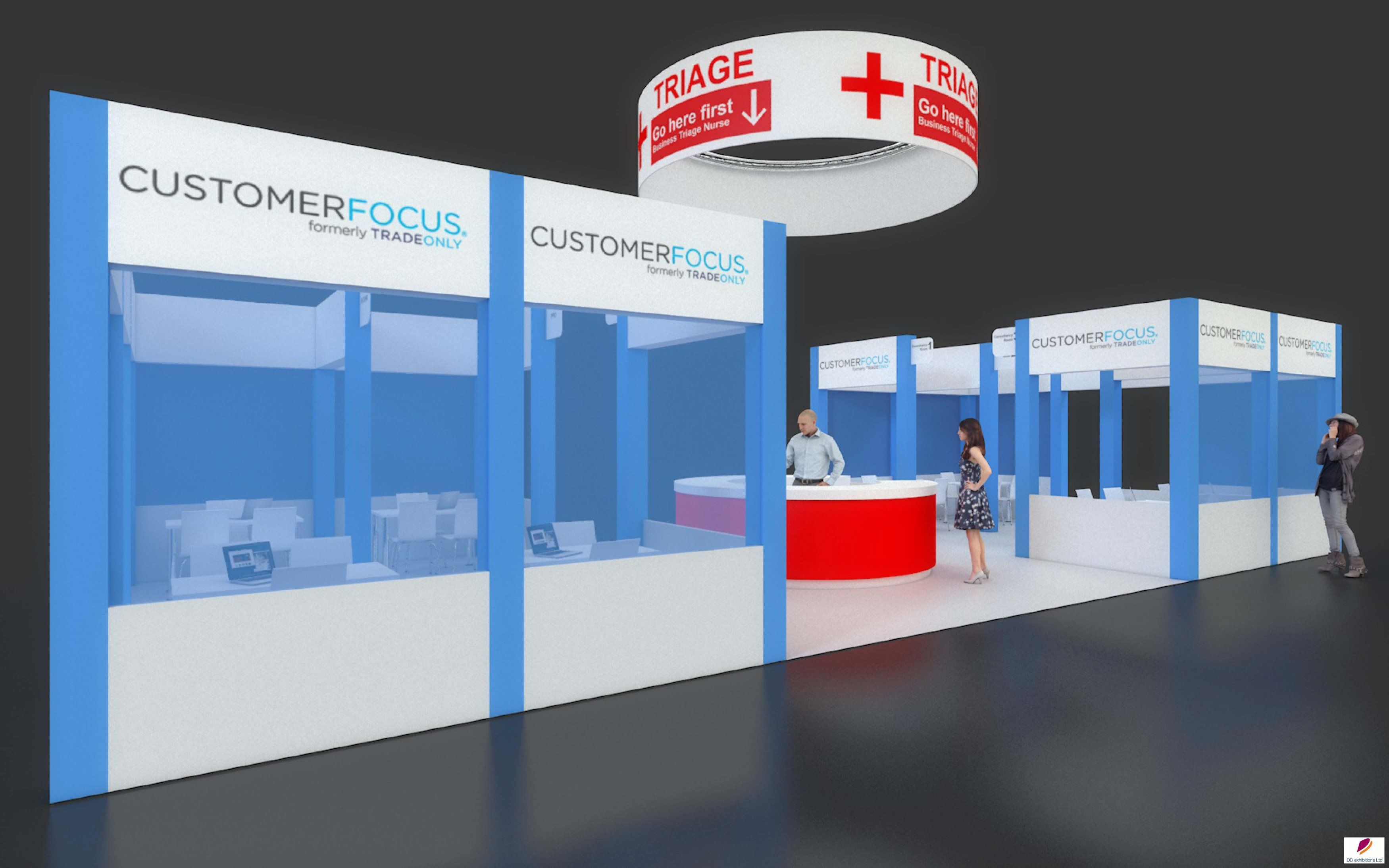 Exhibition Stand Organisers : Exhibition stand design: stand design created for customer focus