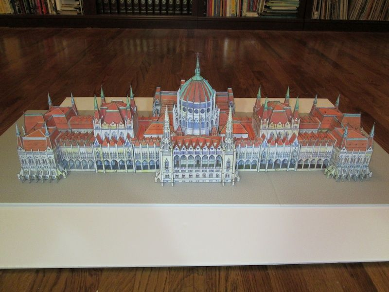 Paper model houses of parliament