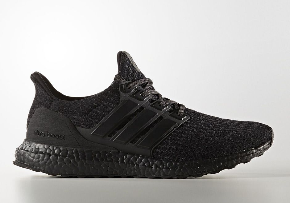 buy online 477f1 f103f adidas Ultra Boost 3.0 Triple Black Matte Heel CG3038 ...