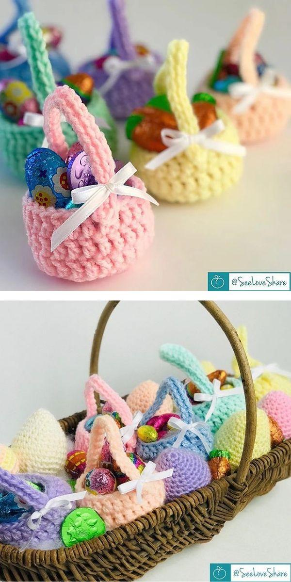 Easter Egg Basket Free Crochet Pattern