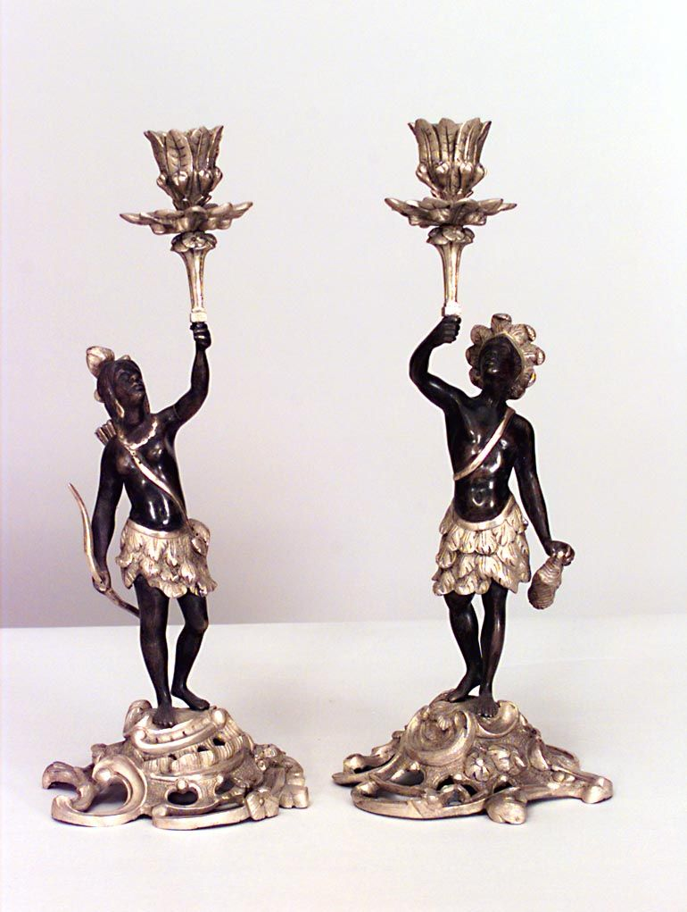 French Louis XV accessories candlestick bronze