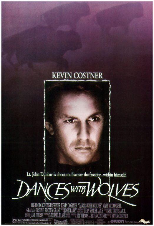 Kevin Costner Dances With Wolves Dicas De Filmes Cartazes De