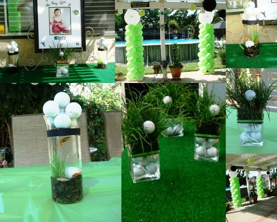 Golf Theme Party, Golf Table