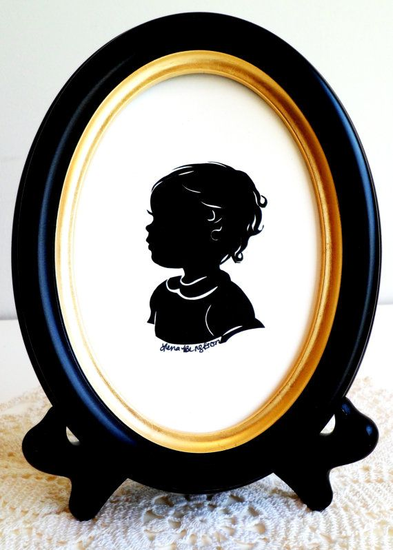 3 Silhouettes One 5x7 Black Wood Oval Frame Home Decor