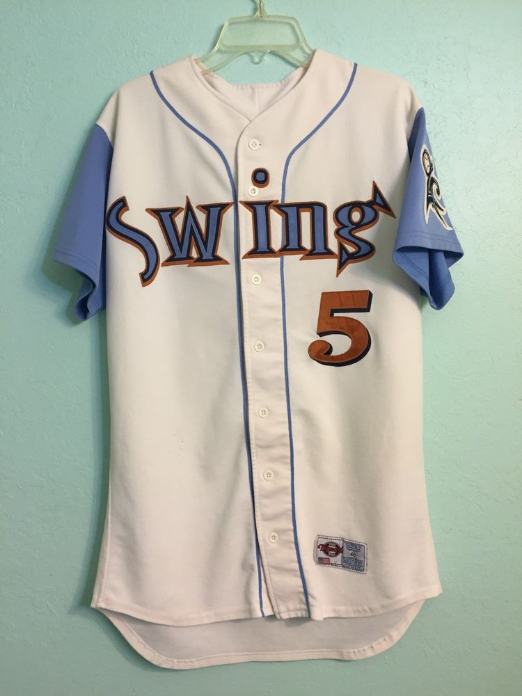 657f55d92 2004 Swing of Quad City (Iowa) St. Louis Cardinals Minor League Game Used  Jersey