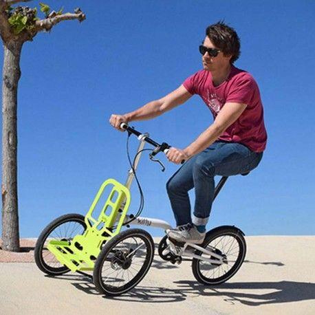 Facile e veloce, leggera e agile, Kiffy è la bici pieghevole con caratteristiche da cargo bike che tutti possono usare. Inoltre diventa il tuo carrello portaspesa in meno di cinque minuti!