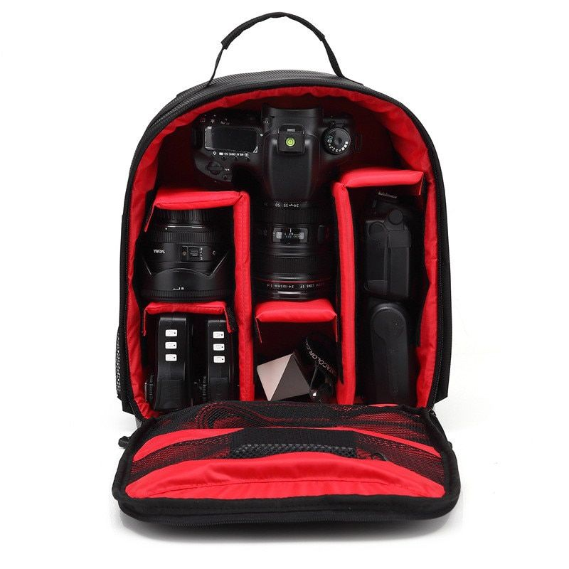 Multi-Functional Camera Backpack DSLR Waterproof Outdoor Carry Photo Bag for Camera Case for Nikon Canon Backpack Photography Color : Black M