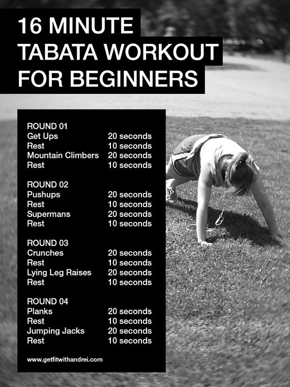 16 Minute Full Body Tabata Routine For Beginners Nice My Class To Begin With