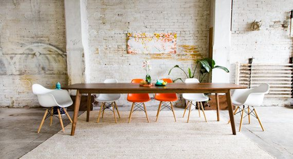 Large Dining Table Modern Dining Table Industrial Table - Mid century modern conference table