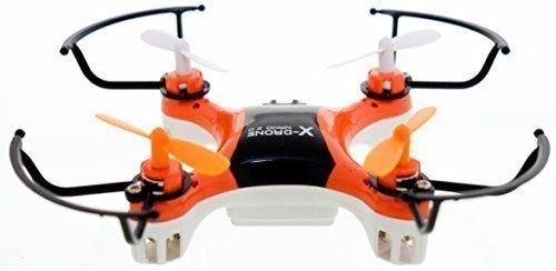4DCopter Fly it  Love it!  X-Drone Nano 2.0 Aerial Drone Quadcopter Radio Controlled RC Flyer Quad Copter Helicopter  Size: Nano (2in x 2in x1in) Orange