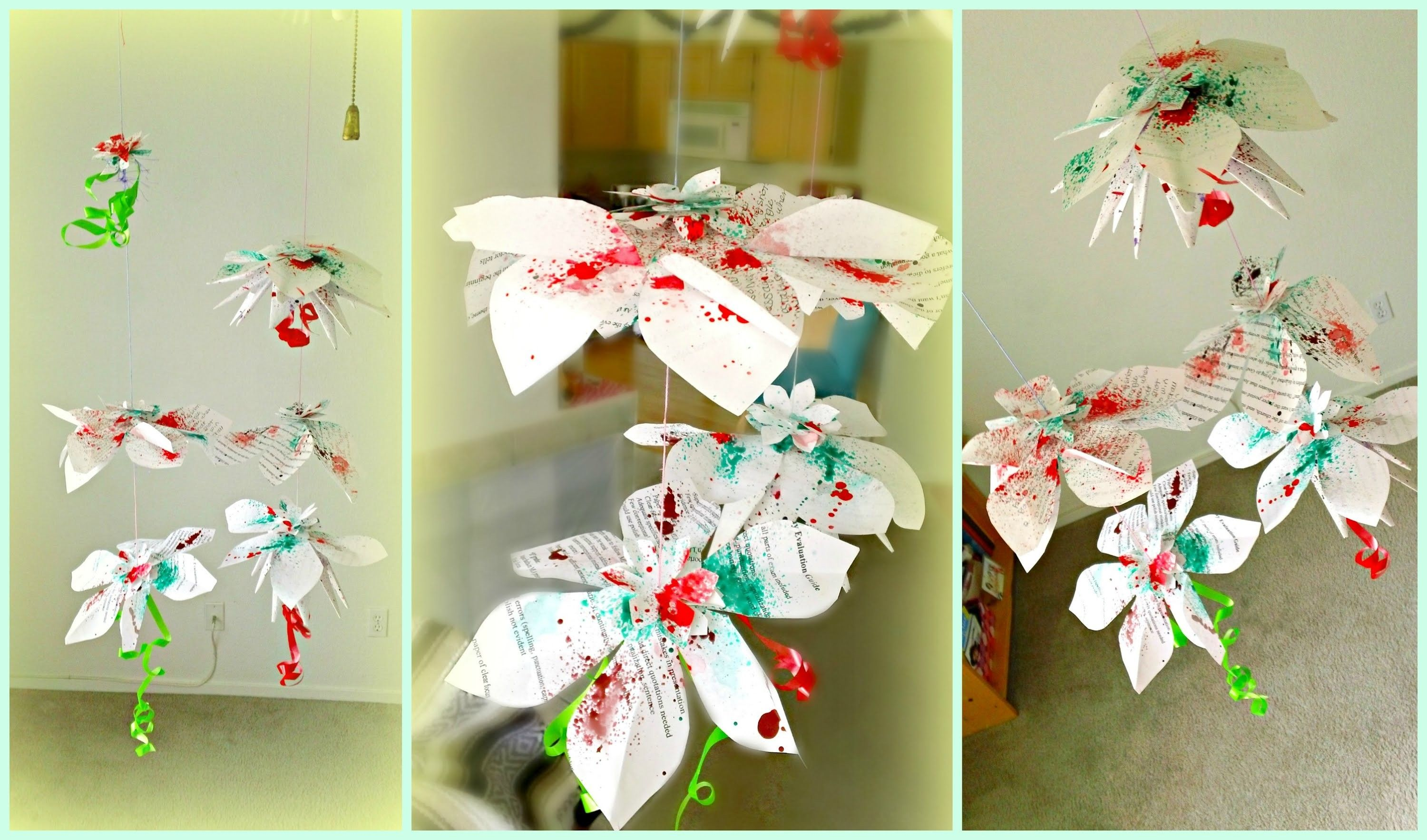 *DIY Hanging Flowers Paper Decorations*