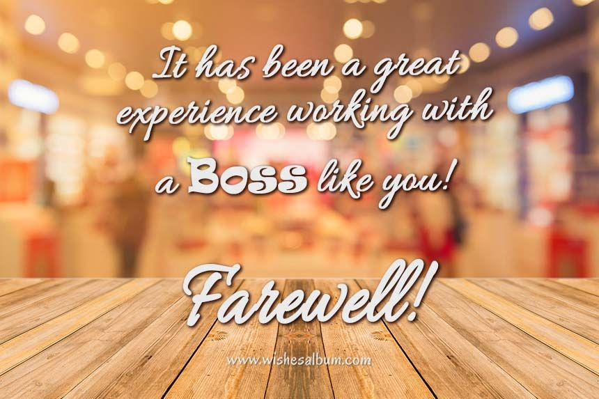 farewell quotes for boss in 2020  message for boss
