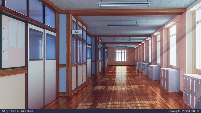 School Hallway, Anas Khalil