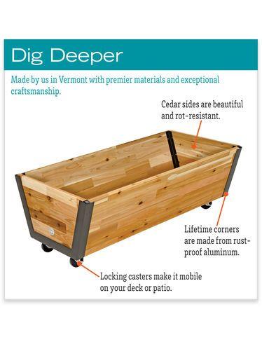 Rolling Planter Box U Garden Bed On Wheels Gardeners 400 x 300