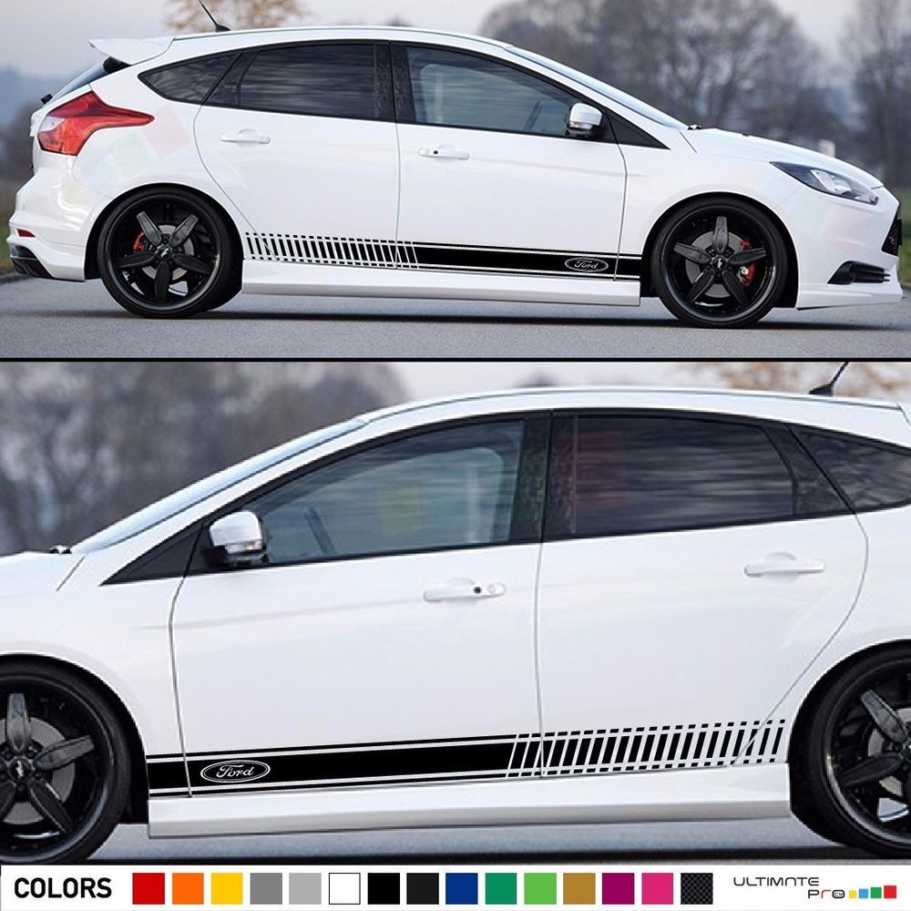 Decal Sticker Stripes Kit For Ford Focus Rs St Bumper Headlight Lamp Led Spoiler Ford Focus Volkswagen Phaeton Ford Focus Rs