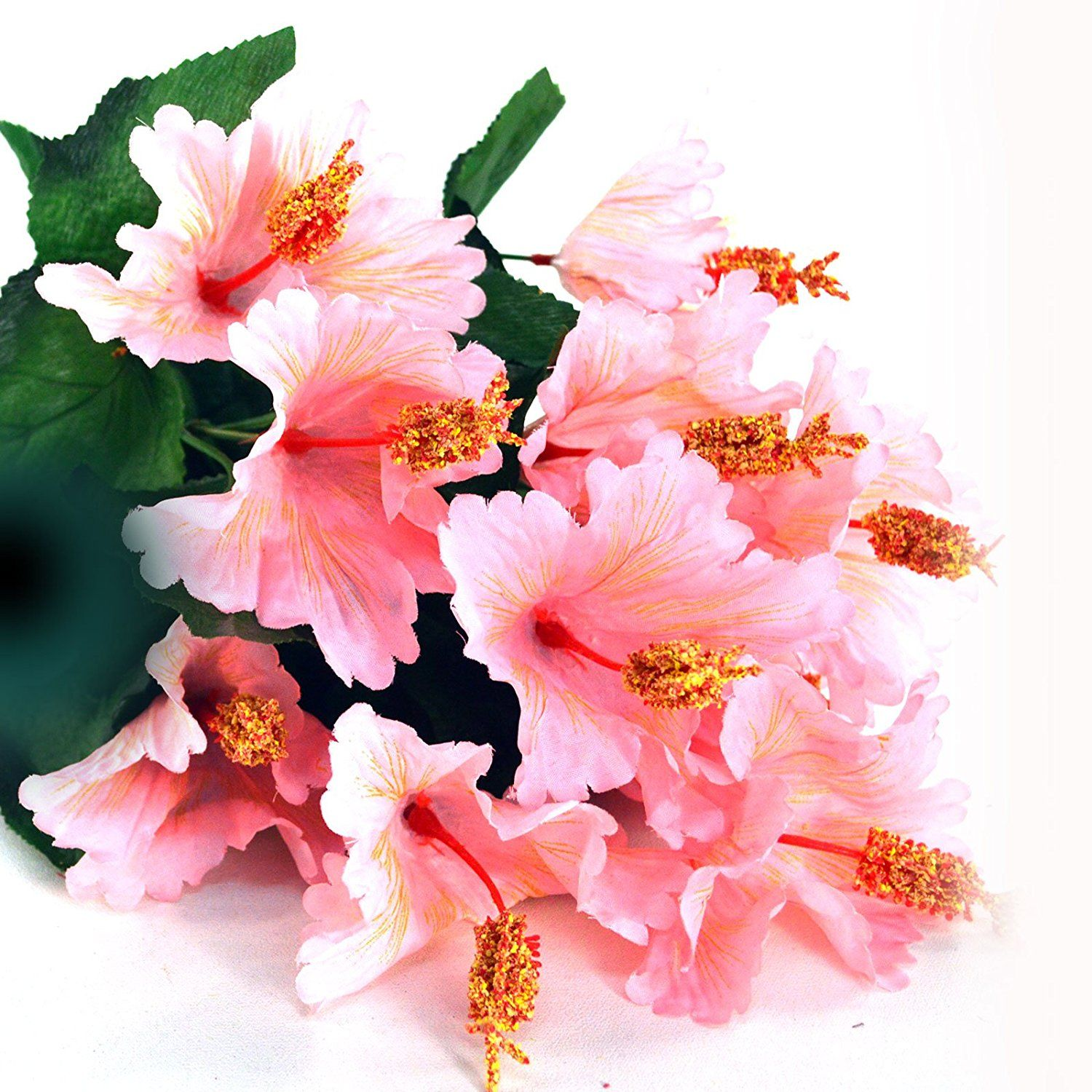 21 Hibiscus Flower Bouquet 11 Flowers Pink Read More At The