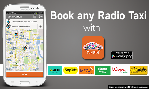 Book radio taxi with Taxipixi from Rs. 10/KM. Taxipixi Now