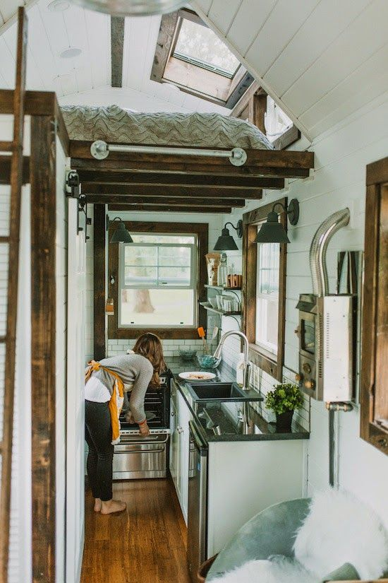 And It S Fab Too The Brainchild Of Tiny Heirloom This Super Cool Custom Home On Wheels Was Tiny House Luxury Small Luxury Homes Tiny House Inspiration