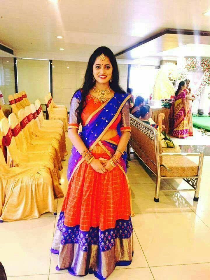 Pattu Halfsaress Half Saree Designs Half Saree Lehenga Saree Designs