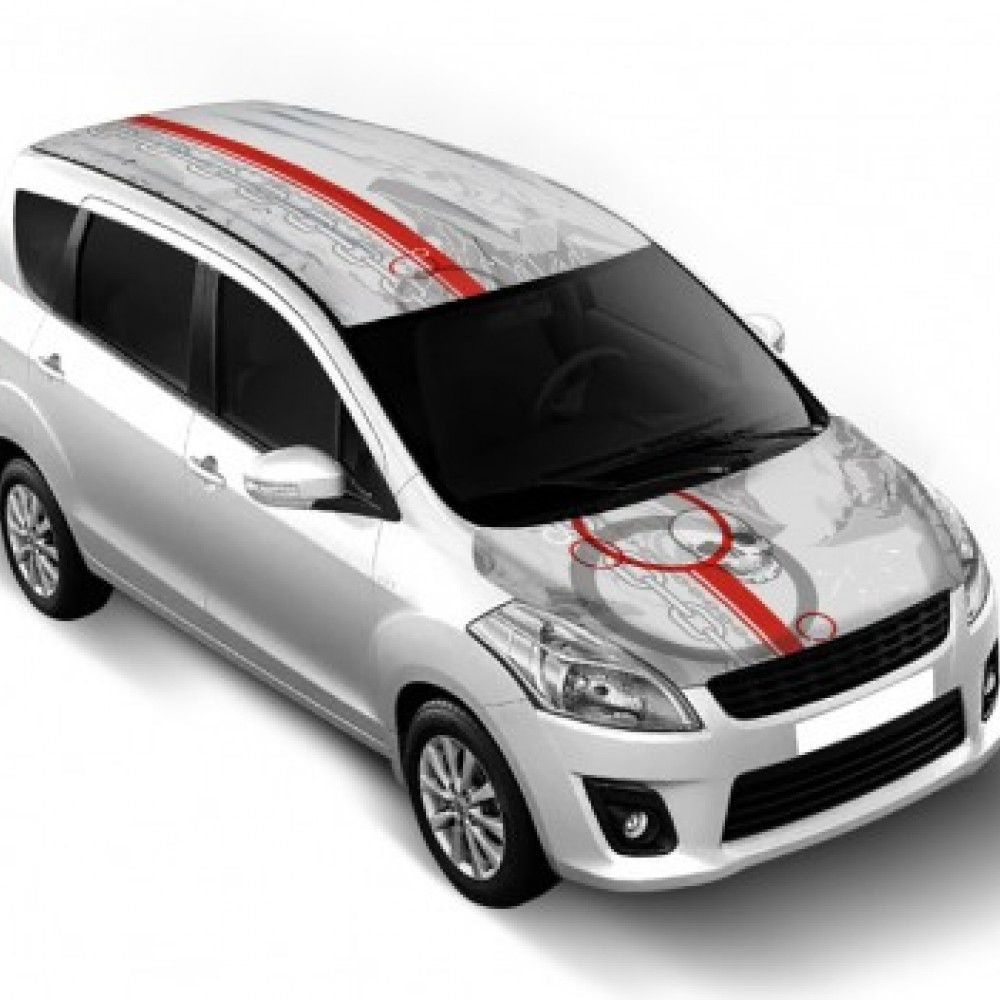 Maruti Ertiga Car Bonnet Wrap Roof Wrap Combo Skull Car Bonnet Car Car Exterior [ 1000 x 1000 Pixel ]